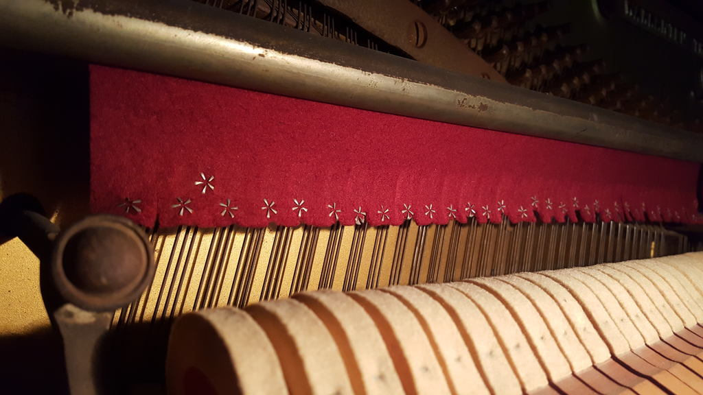 The pins on the Strauber Piano