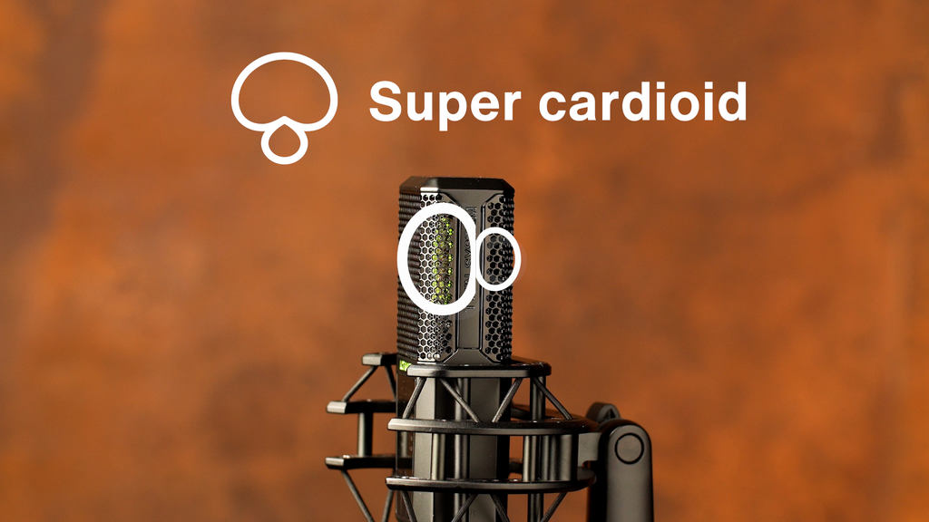 Supercardioid is a figure-8 polar pattern with reduced sensitivity on of the two diaphragms