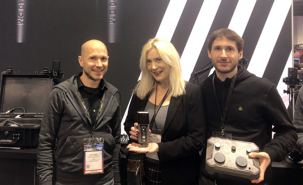 NAMM booth with Sylvia Massy
